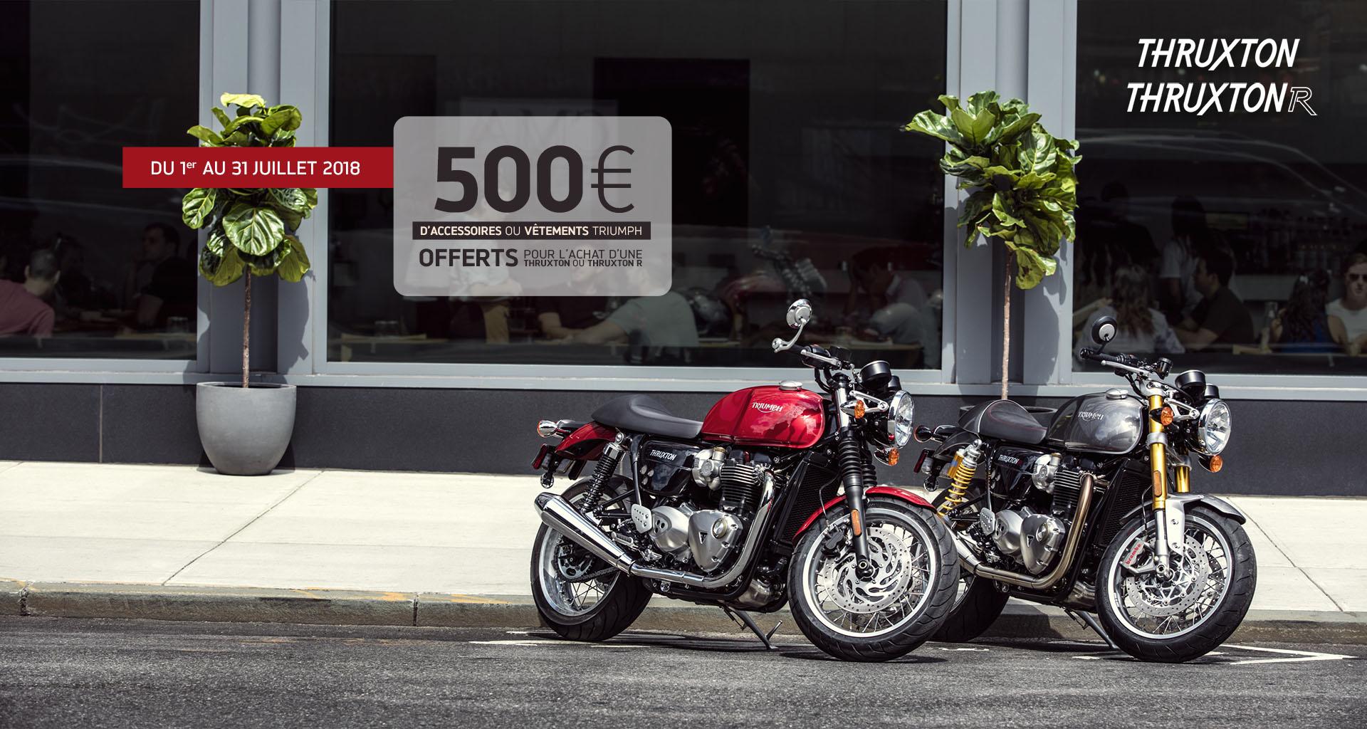 500 de bons d 39 achat thruxton actualit de pole moto limoges. Black Bedroom Furniture Sets. Home Design Ideas